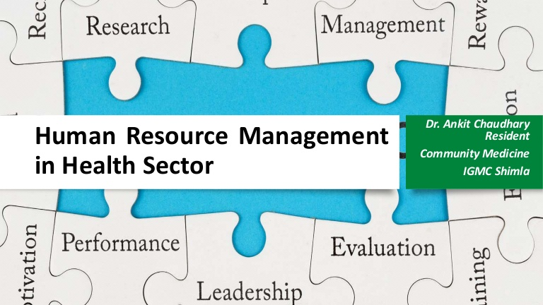 Management  of Human Resource for health